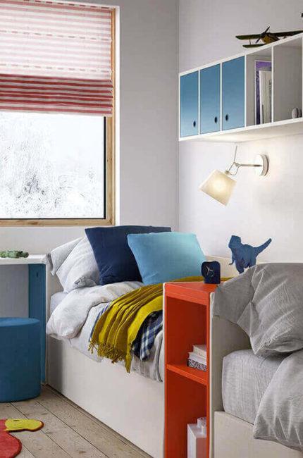 Dormitorio Juvenil En L Free Habitacion Juvenil Cortina
